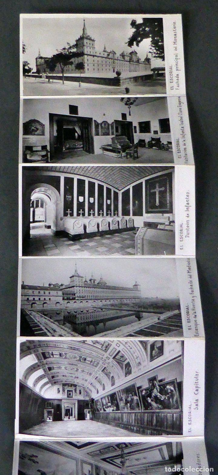 Postales: 10 miniatura postales Monasterio El Escorial García Garrabella acordeón desplegable 8,5 cm x 4,5 cm - Foto 3 - 111023535