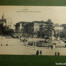 Postales: POSTAL - ESPAÑA - MADRID - 9.- PLAZA DE NEPTUNO Y MUSEO DEL PRADO- H.M.-M. - HAUSER Y MENET - NE-NC . Lote 111064459