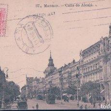 Cartes Postales: POSTAL MADRID 37 - CALLE DE ALCALA - J. ROIG - CIRCULADA. Lote 111079931