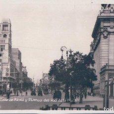 Postales: POSTAL MADRID - CALLE DE ALCALA Y BANCO DEL RIO DE LA PLATA -ED SOCIEDAD GENERAL ESPAÑOLA - CIRCULAD. Lote 111134343