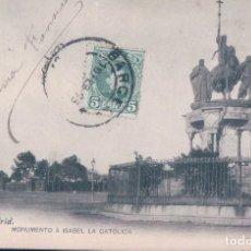 Postales: MADRID. 43. MONUMENTO A ISABEL LA CATÓLICA. FOT. LACOSTE. PRIMERA ÉPOCA, REVERSO SIN DIVIDIR. Lote 111480679