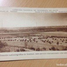 Postales: ANTIGUA POSTAL ESTACION RADIOTELEGRAFICA DE ARANJUEZ MADRID TELEGRAFIA SIN HILOS . Lote 111661503