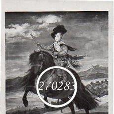 Postales: MUSEO DEL PRADO PRINCIPE BALTASAR CARLOS - CIRCULADA CON SELLO RAMON Y CAJAL 1119 EDIFIL -VER FOTO. Lote 111909271
