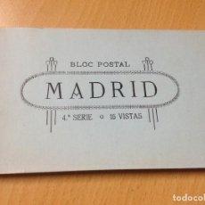 Postales: BLOC 15 ANTIGUAS POSTALES MADRID 4 SERIE GRAFOS. Lote 112558267