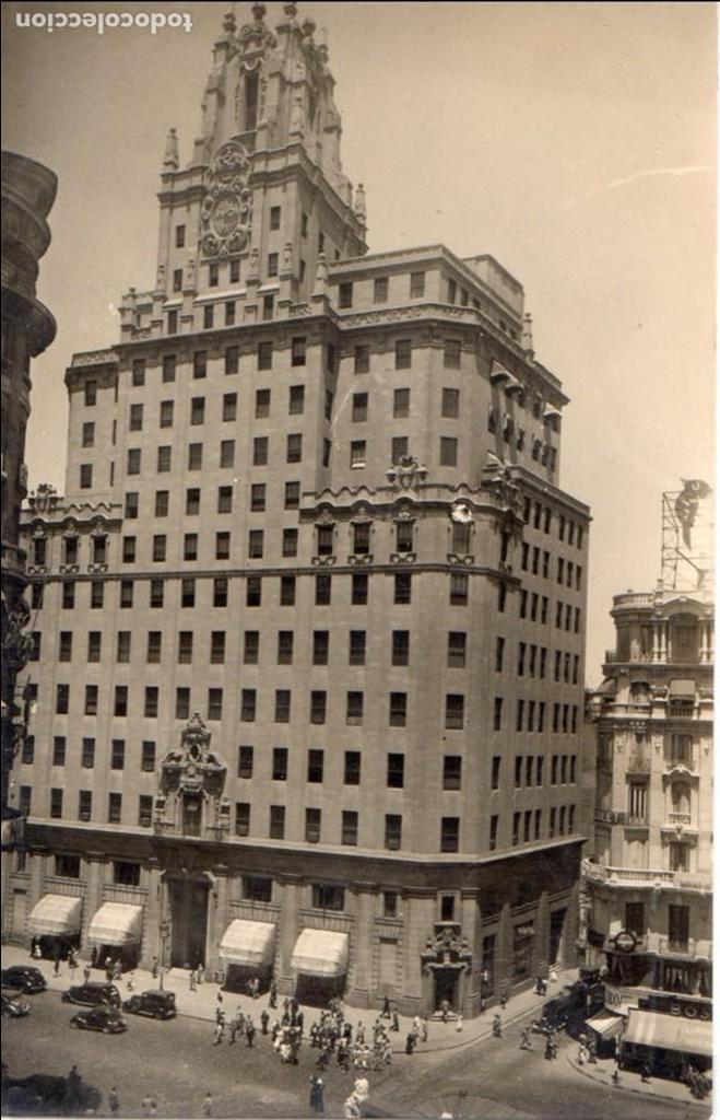 MADRID.-TELEFONICA, CIRCULADA 1950. FTO. F. MOLINA, JMOLINA1946 (Postales - España - Comunidad de Madrid Antigua (hasta 1939))