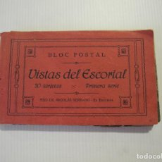 Postales: BLOC POSTAL VISTAS DEL ESCORIAL. 20 TARJETAS. PRIMERA SERIE. HIJO DE NICOLÁS SERRANO. Lote 112800987