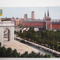 Postales: POSTAL DEL ARCO DE LA VICTORIA Y MINISTERIO DEL AIRE DE MADRID - AÑOS 60. Lote 112933099