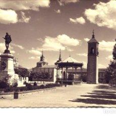 Postales: ALCALA DE HENARES-ESTATUA Y PASEO DE CERVANTES-GARRABELLA. Lote 112976131