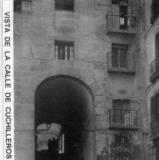 Postales: MADRID.- ARCO DE CUCHILLEROS, SIN CIRCULAR. FTO.HELIOTIPIA ARTISTICA,JMOLINA1946. Lote 113494427