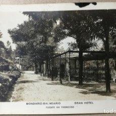 Postales: ANTIGUA POSTAL. MONDARIZ-BALNEARIO. GRAN HOTEL. PONTEVEDRA. FUENTE DE TRONCOSO. SIN CIRCULAR. Lote 114122519