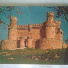 Postales: FOTO POSTAL AÑOS 80 CASTILLO MANZANARES SIGLOXV.RECUERDOS. Lote 114264943