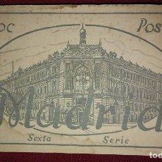 Postales: BLOC POSTAL MADRID (SEXTA SERIE) 15 POSTALES. Lote 114433447