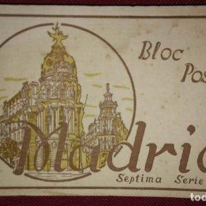 Bloc postal madrid (septima serie) 15 postales
