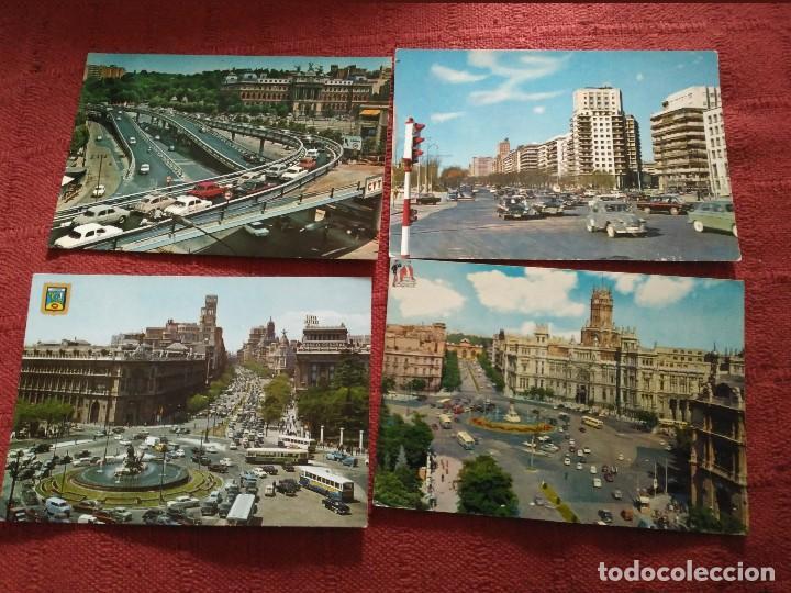 4 POSTALES MADRID AÑOS 70 CIRCULADAS (Postales - España - Madrid Moderna (desde 1940))