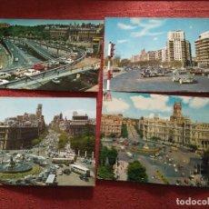 Postales: 4 POSTALES MADRID AÑOS 70 CIRCULADAS. Lote 114518691