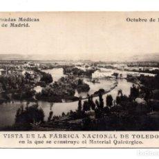 Postales: JORNADAS MEDICAS DE MADRID DEL AÑO 1.927 - VISTA DE LA FABRICA NACIONAL DE TOLEDO. Lote 114657419