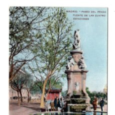 Postales: MADRID. PASEO DEL PRADO. FUENTE DE LAS CUATRO ESTACIONES. Lote 114944807