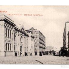 Postales: MADRID - Nº 137- CALLE DE BAILEN Y ESCUELAS MUNICIPALES - ED. LACOSTE - NO CIRCULADA.. Lote 114945907
