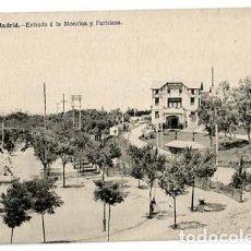 Postales: MADRID ENTRADA A LA MONCLOA Y PARISIANA. J. LACOSTE. SIN CIRCULAR. Lote 115240955