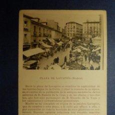 Postales: POSTAL - ESPAÑA - MADRID - PLAZA DE LAVAPIÉS - COMENTADA PEDRO RÉPIDE - CAYON - C/ PUBLICIDAD. Lote 115302587