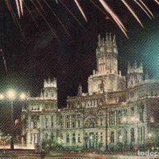 Postales: MADRID PALACIO DE COMUNICACIONES VISTA NOCTURNA. Lote 115479527