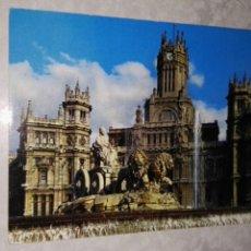 Postales: ANTIGUA POSTAL MADRID LA CIBELES Y EL PALACIO DE COMUNICACIONES. Lote 115506335