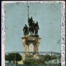 Postales: POSTAL MADRID MONUMENTO A ISABEL LA CATOLICA EN LA CASTELLANA ROMO Y FUSSEL CA AÑO 1900. Lote 116120647