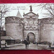Postales: POSTAL TOLEDO: PUERTA DE VISAGRA CON PROPAGANDA DE MAZAPAN JUAN ESTEBAN. Lote 116468263