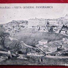Postales: POSTAL TOLEDO: VISTA GENERAL PANORAMICA. CON PERFORACIONES DE ALFILER. Lote 116468455