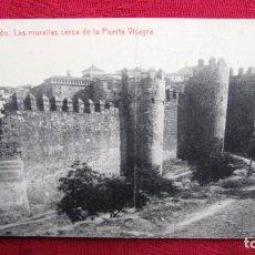 Postales: POSTAL TOLEDO: LAS MURALLLAS CERCA DE LA PUERTA VISAGRA.PROPAGANDA GRAN CAMISERIA.FOTOTIPIA THOMAS. Lote 116468643