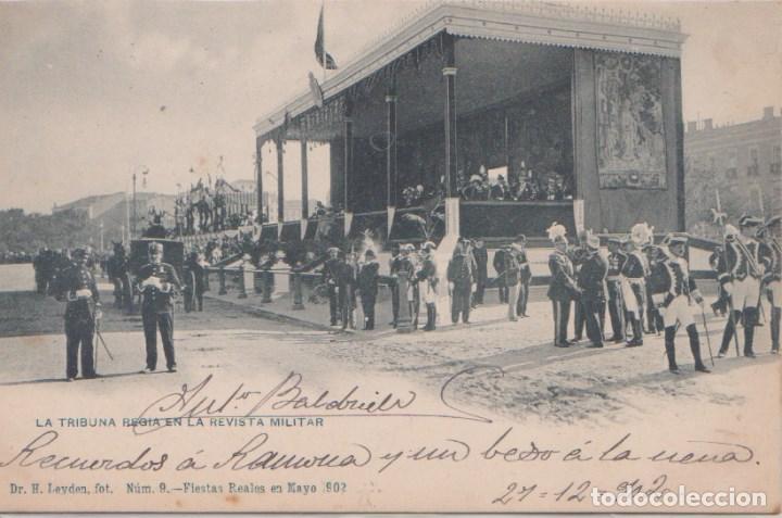 MADRID - LA TRIBUNA RUSA EN LA REVISTA MILITAR - FIESTAS REALES MAYO 1902 (Postales - España - Comunidad de Madrid Antigua (hasta 1939))
