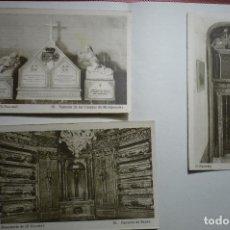 Postales: LOTE POSTALES MONASTERIO ESCORIAL PANTEONES--CM. Lote 117208811