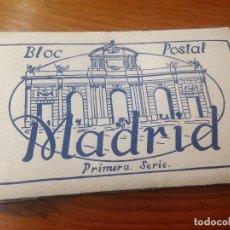 Postales: ANTIGUAS POSTALES BLOC MADRID PRIMERA SERIE. Lote 117227475