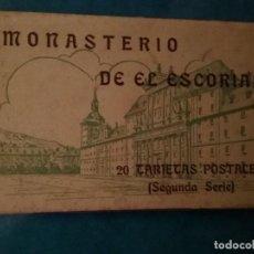 Postales: MONASTERIO DE EL ESCORIAL - DESPLEGABLE DE 20 POSTALES HAUSER Y MENET. Lote 117436959