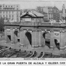 Postales: MADRID.- PUERTA DE ALCALA, SIN CIRCULAR.FTO.HELIOTIPIA ARTISTICA,JMOLINA1946. Lote 117886195