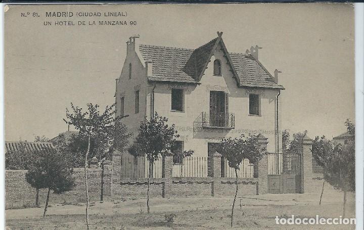 MADRID - UN HOTEL DE LA MANZANA 90 EN CIUDAD LINEAL (Postales - España - Comunidad de Madrid Antigua (hasta 1939))