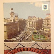 Postales: MADRID:KILOMETRO CERO & PUERTA DEL SOL 60'S. Lote 118426691