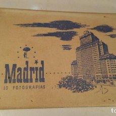 Postales: 8 POSTALES EN LIBRITO DE MADRID CIMER SERIE B-4 AÑOS 50. Lote 118542955