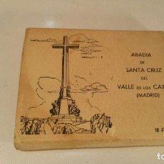 Postales: VALLE DE LOS CAIDOS-ABADIA SANTA CRUZ DEL VALLE DE LOS CAIDOS-18 FOTOGRAFIAS MANIPEL. Lote 118543975