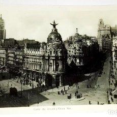 Postales: ANTIGUA POSTAL - 34. MADRID, CALLE DE ALCALÁ Y GRAN VÍA / RAPIDE. Lote 118706151