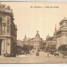 Postales: MADRID CALLE ALCALA SIN ESCRIBIR. Lote 118719323