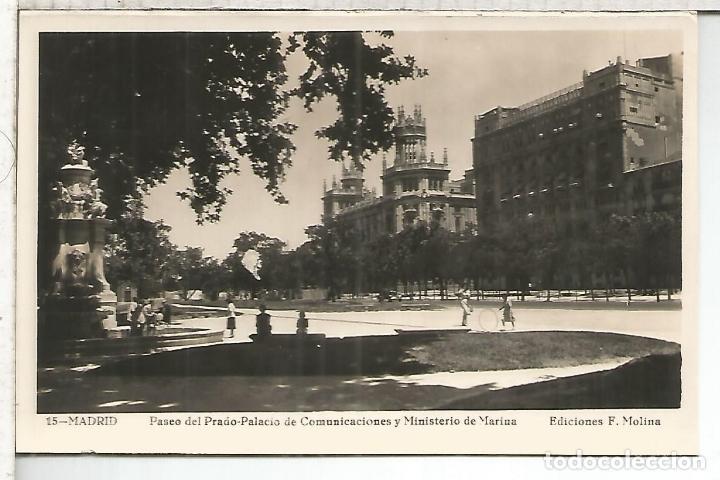 MADRID PALACIO COMUNICACIONES ESCRITA (Postales - España - Comunidad de Madrid Antigua (hasta 1939))