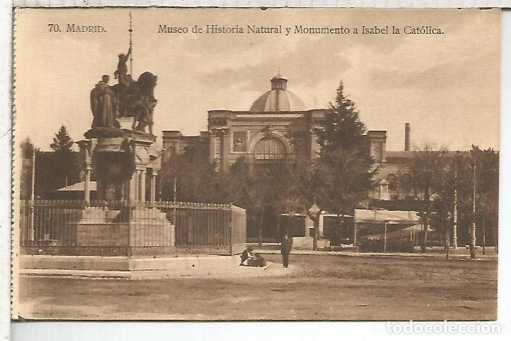 MADRID MUSEO HISTORIA NATURAL SIN ESCRIBIR (Postales - España - Comunidad de Madrid Antigua (hasta 1939))