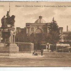 Postales: MADRID MUSEO HISTORIA NATURAL SIN ESCRIBIR. Lote 118725991
