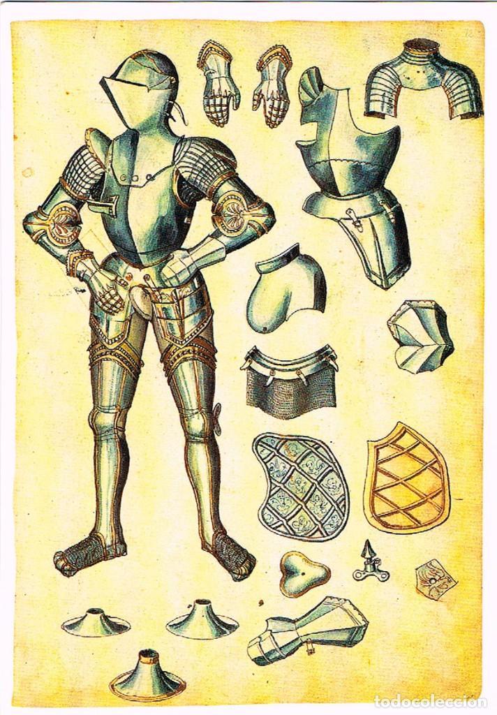 MADRID, REAL ARMERIA, INVENTARIO ILUMINADO (1544 A 1558) PÎEZAS DE ARMADURA DE CARLOS V (Postales - España - Madrid Moderna (desde 1940))