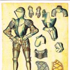 Postales: MADRID, REAL ARMERIA, INVENTARIO ILUMINADO (1544 A 1558) PÎEZAS DE ARMADURA DE CARLOS V. Lote 119016535