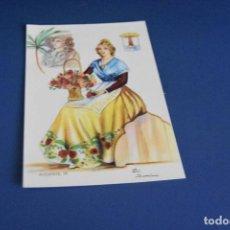 Postales: POSTAL SIN CIRCULAR - DIBUJO TRAJE REGIONAL ALICANTE 79 - EDITA F MOLINA - MADRID. Lote 119053391