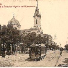 Postales: MADRID - Nº13 CALLE DE LA PRINCESA, IGLESIA DEL BUENSUCESO- 1225 FOT. THOMAS BARCELONA- SIN CIRCULAR. Lote 119886283