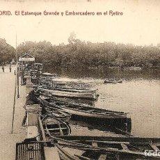 Postales: MADRID - Nº16 ESTANQUE GRANDE Y EMBARCADERO EN EL RETIRO- 1228 FOT. THOMAS, BARCELONA - SIN CIRCULAR. Lote 119952603