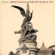 Postales: MADRID - Nº10 MONUMENTO AL PUEBLO 2 DE MAYO 1808 - 1222 FOTOTIPIA THOMAS, BARCELONA - SIN CIRCULAR. Lote 119953247